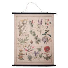 Clayre & Eef Poster Katoen 100 x 80 cm - Botanisch - afbeelding 1
