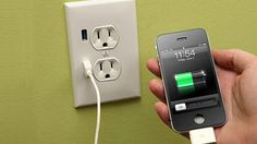 Replace your wall outlets with USB charging versions.