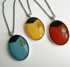 Star Trek pendants... Be warned if you get the red one...