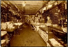 ID#: 0041 Date: 1898-1910.Watson's hardware sometime between 1898 and 1910. Watson and Mr. Wilkinson purchased the business and  in 1898. Current owner is Charlie Palmer. Participant: Barbara Molyneau. Additional Sources: O.H.I.O. Resource Center: Fred Maddock files., Historic Preservation Commission, Survey 1998, Internet correspondence from Jim Molyneaux, 01/16/01. Interview with Jim and Barbara Molyneaux, 6/00. Interview with Glenn Molyneaux, 6/00; Interview with Pat Stetson, 01/01