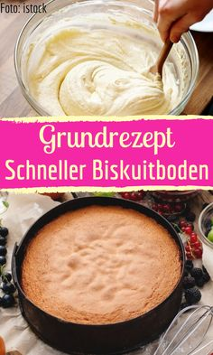 Basic recipe for quick sponge cake - Schnelle Kuchen - Easy Cheesecake Recipes, Easy Cookie Recipes, Easy Healthy Recipes, Crockpot Recipes, Snack Recipes, Dessert Recipes, Snacks, Appetizer Recipes, Quick Biscuits