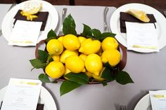 wedding decor with lemons