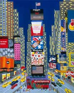 Times Square | Patricia Palermino http://www.pinterest.com/lamerie/big-apple-graphics/