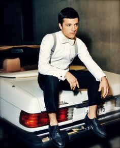 Josh Hutcherson from the Hunger Games looks dashing in his suspenders. SIBTEMBER