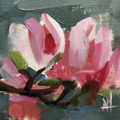 Magnolia Blossoms no. 29 Original Oil Painting by Angela Moulton