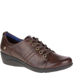 Hush Puppies Women's Champion Oleena Lace Up Shoe,Dark Brown Leather,US 7 M * Want additional info? Click on the image.