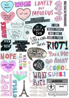 Printable Sticker Paper, Vinyl Sticker Paper, Sticker Shop, Mean Girls, Gif Disney, Tumblr Stickers, Diy Stickers, Plum Paper, Kawaii Doodles