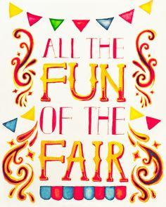 my work in progress fairground poster!