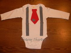 Children's Valentine's 3D Tie and Suspenders by cutesyshirtsy, $20.00