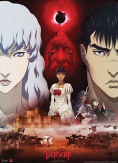 BERSERK GUTS, GRIFFITH, & CHARLOTTE WALLSCROLL - Best Anime Shop