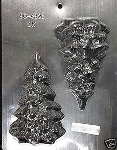 "Christmas  med 3-d #christmas tree 5.75""  chocolate #plastic candy mold #90-4326,  View more on the LINK: 	http://www.zeppy.io/product/gb/2/191730503878/"