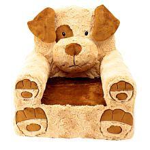 Animal Adventure Sweet Seats Dog Plush Chair  Brown