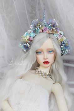 Unicorn Crown OOAK flower crown handmade headband headdress