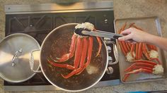 Use our simple method to make your most impressive holiday meal yet. It's even easier than you think, we promise! Crab Leg Recipes Boiled, Crab Recipes, Yummy Recipes, Dinner Recipes, Yummy Food, Fish Dishes, Seafood Dishes, Main Dishes, Steamed Crab Legs