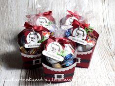 Kleine Nikolaus - Aufmerksamkeiten für brave Kollegen :-) ++++ Gemacht mit Produkten von Stampin Up! - Pommes Box - Nostalgische Weihnachten - Kleine Wünsche - geschwungenes Etikett - Farbkarton Chili Flüsterweiß Schwarz