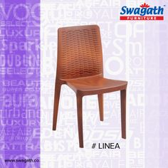 Rattan design backrest makes Linea #chair look more attractive with a very comfortable seating. Contact us for more details at www.swagath.co !!