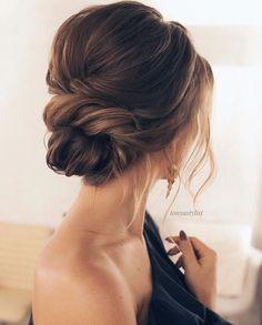 Elegant bridal updo #hairstylesrecogido