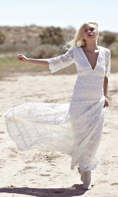 """""""Willow"""" by Daughters of Simone   bohemian wedding dresses, boho dress, crochet lace bridal gown"""