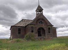 An abandoned schoolhouse near Elvira, Washington.