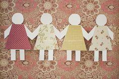 Vintage paper doll inspired birthday