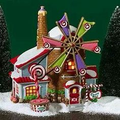 Windmill gingerbread house!