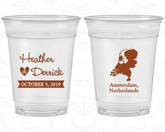 Netherlands Wedding, Promotional Clear Cups, Destination Wedding, Clear Plastic Cups, Amsterdam Wedding (197)