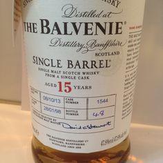 Balvenie 15yo Single Barrel, Cask 1544. Heerlijke Bourbonrijping