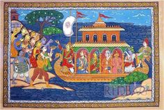 Mural Painting, Silk Painting, Indian Paintings, Paintings For Sale, Traditional Paintings, Traditional Art, Lord Krishna Sketch, Indian Folk Art, Madhubani Painting