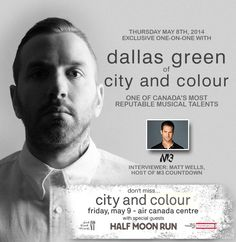 "CANADIAN MUSIC WEEK NEWS - ""Exclusive One-on-One With Dallas Green of City and Colour at Canadian Music Week 2014"" 2014"