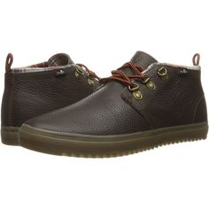 Sanuk Cargo Deluxe (Dark Brown) Men's Lace up casual Shoes (83 CAD) ❤ liked on Polyvore featuring men's fashion, men's shoes, brown, mens lace up shoes, sanuk mens shoes, dark brown mens dress shoes, mens brown shoes and mens shoes