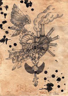 Steampunk Heart by Danijel-Knez.deviantart.com on @deviantART