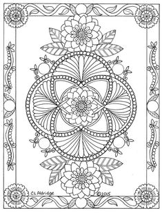 beautiful zentangle and mandala design Pattern Coloring Pages, Mandala Coloring Pages, Colouring Pages, Coloring Books, Free Adult Coloring, Adult Coloring Book Pages, Printable Adult Coloring Pages, Paper Embroidery, Embroidery Patterns