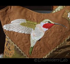 Hummingbird 0001 - machine embroidery design/ Divided design included by EmbroideryLabDesigns on Etsy https://www.etsy.com/listing/225534291/hummingbird-0001-machine-embroidery