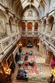 High Clere Castle, they used this castle in many movies, this room especially.