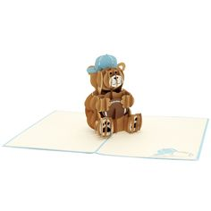 A cute teddy bear will never go wrong in any occasions. Check out our new Rugby bear pop up card at https://charmpopcards.com/product/rugby-bear-pop-up-card #popupcard #popupcardwholesale #popupcardmanufacturer
