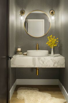 Like an excellent investment, a powder room has a significant role for your home. Find out awesome and beatiful powder room ideas here Rustic Powder Room, Modern Powder Rooms, Small Powder Rooms, Beautiful Bathrooms, Modern Bathroom, Small Bathroom, Shower Bathroom, Vanity Bathroom, Diy Shower