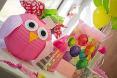 אמהות מארגנות יום הולדת - designed lanterns - owl party