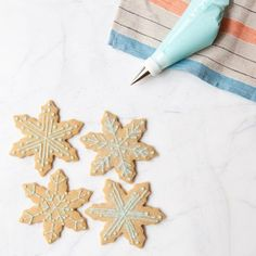 Brown Sugar-Ginger Snowflakes #recipe #christmascookies