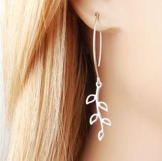 A personal favorite from my Etsy shop https://www.etsy.com/se-en/listing/185738234/silver-leaf-earrings-sterling-silver