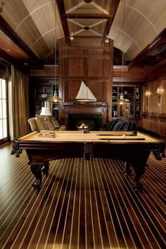 Fabulous ceiling in this Billards Room. Herlong Architects.