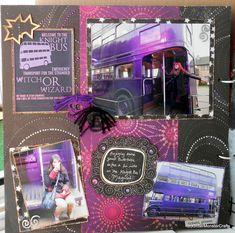 All aboard the Knight bus ! [Harry Potter Mini Album] - Scrapbook.com