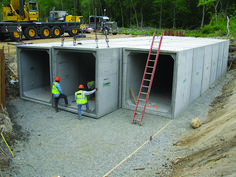 Use Box Culverts for Fast Bridge Replacement or secure housing not that great of a design concrete? Underground Shelter, Underground Homes, Precast Concrete, Concrete Houses, Casa Bunker, Container Home Designs, Casas Containers, Container Buildings, Safe Room