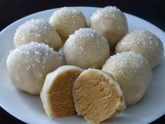 Snowballs (White Chocolate Buckeyes)