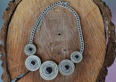 Silver Necklace Silver Tribal Necklace Tribal by LKArtChic on Etsy