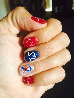 CHD awareness nail art