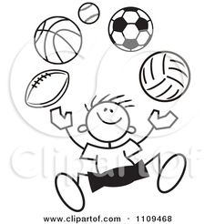 clip art black and white Clipart Black And White Sticker Boy Juggling Balls Royalty Free Black and white stickers White stickers Clip art