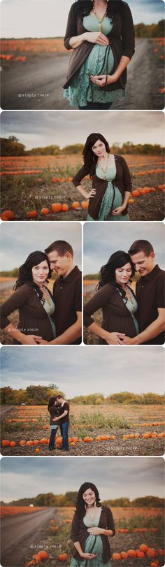 I like classy, clothed maternity pictures. All that belly flashin isn't really my style. But I love stuff like this!
