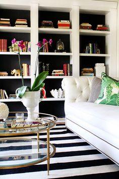 Trouvailles Pinterest: Déco noir et blanc | Les idées de ma maison Photo: ©craneconcept.com #deco #inspiration #noir #blanc #noiretblanc #style #classique #idees #inspiration