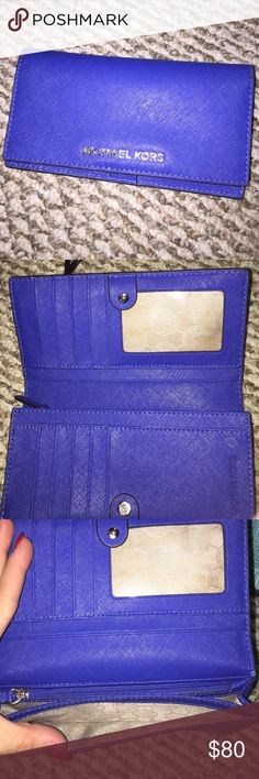 Michael Kors wallet Brilliant cobalt blue Michael Kors wallet. Perfect condition. Michael Kors Bags Wallets