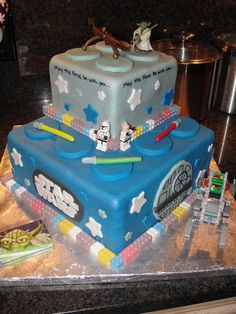 Lego Star Wars My nephew wanted a Lego Star Wars cake, so this is what I came up with! I melded a few different ideas I had seen on here! I...